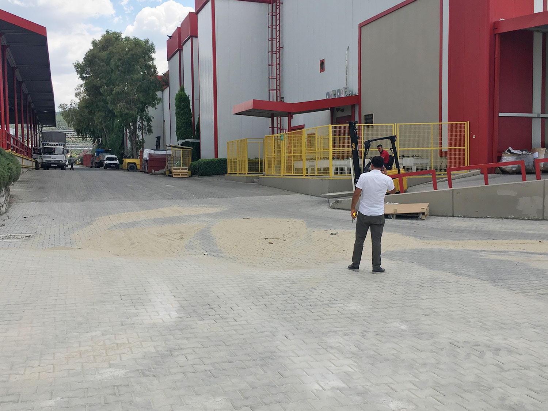 Vestel Kurutma Makinesi Fabrikası Kilit Parke ve Bordür İşleri